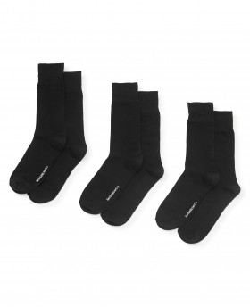 BLACK PLAIN 3 PACK SOCK-MSO040BLK - Small Image 280x344px