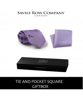Lilac Flying Pheasant Silk Tie and Pocket Square Gift Box-LILAC-GIFTBOX - Small Image 280x344px