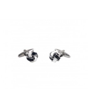 WHITE NAVY KNOT CUFFLINKS-MCL995WHN - Small Image 280x344px