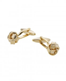 GOLD EFFECT KNOT CUFFLINK- MCL996GLD - Small Image 280x344px