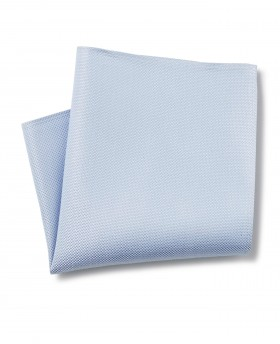 PALE BLUE BIRDSEYE TEXTURED SILK POCKET SQUARE-MHK224PBL - Small Image 280x344px