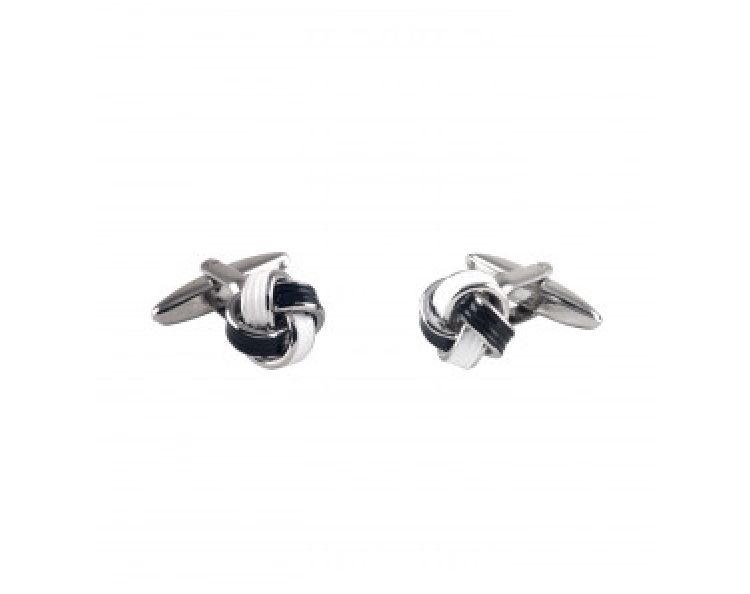 WHITE NAVY KNOT CUFFLINKS-MCL995WHN